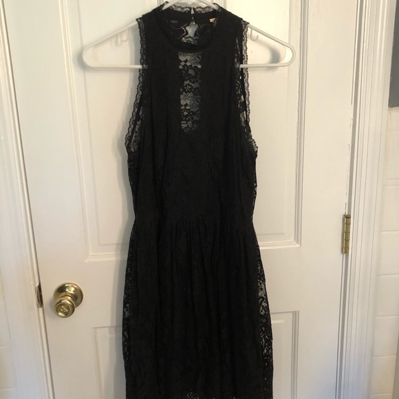 Free People Dresses & Skirts - Free People Black Lace Cocktail Dress